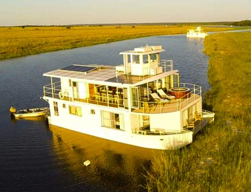Houseboats in Botswana